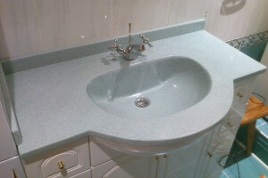 Sanitary ware from cast marble